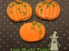 Pumpkin Halloween cookies