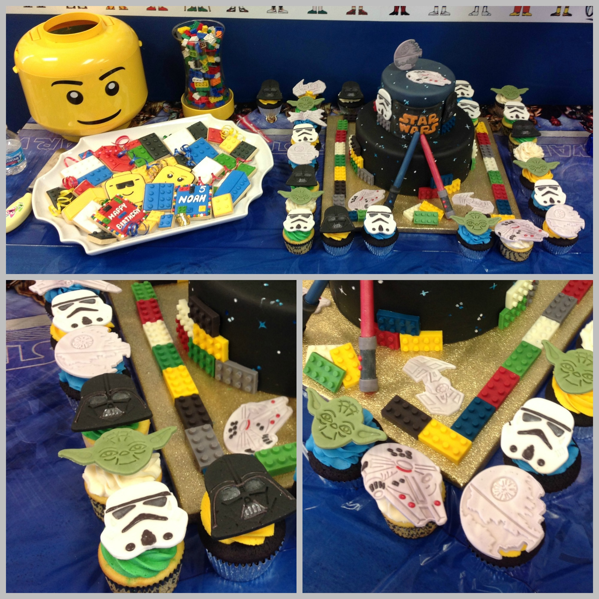 lego cupcakes Collage