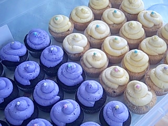 purple-yellow-cupcakes