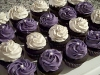 Purple & White cupcakes