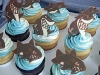 Shark cupcakes closeup