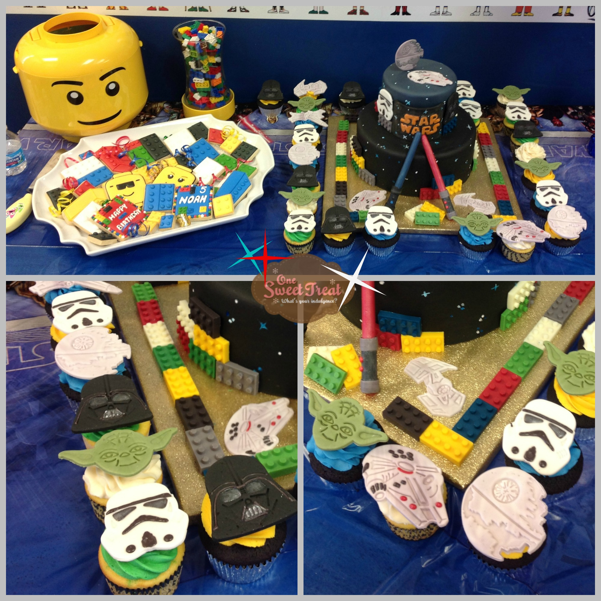 lego-cake-cupcakes-collage