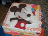 mickey mouse b-day cake