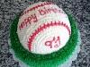 baseball on grass shower cake