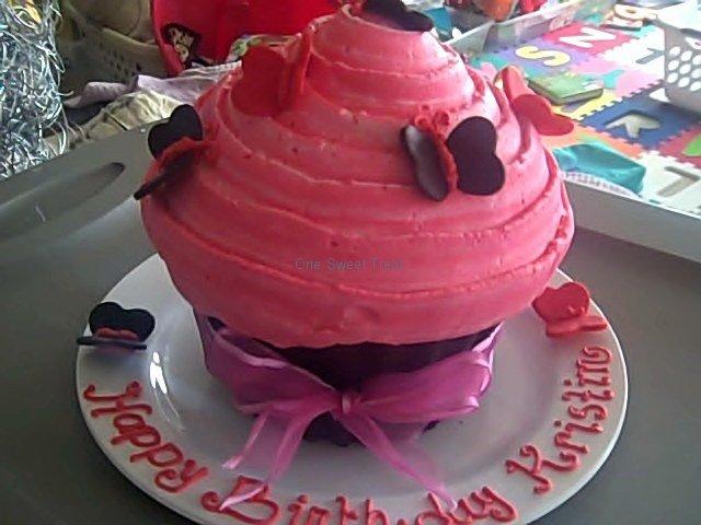 giant cupcake butterflies