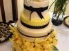 Yellow on Ivory wedding cake
