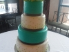 Green mums wedding cake