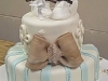 Baptism Cake with Brown Ribbon