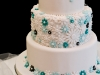 Daisy Pattern Wedding Cake