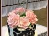 sugar-flowers on Damask cake