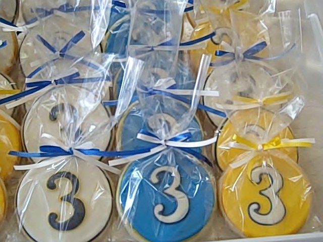 Number 3 Cookie Favors - CakeCentral.com