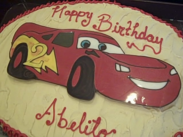 One Sweet Treat Lightning McQueen Birthday Cake