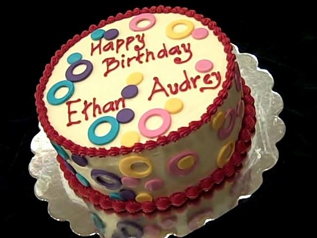 One Sweet Treat Boy Girl Birthday Cake