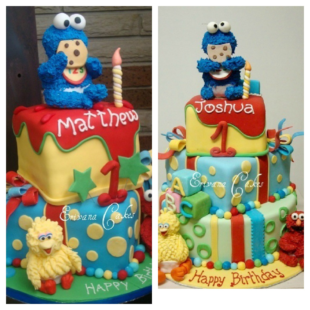 One Sweet Treat Baby Sesame Street Cake
