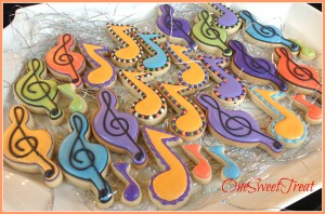 Musical notes cookies 3