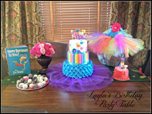 Whimsical Cake party table