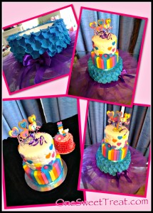 Whimsical cake collage