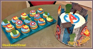Avengers cake table