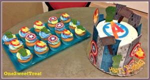 Avengers cake table