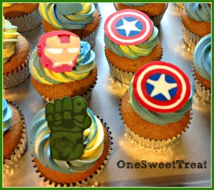 Avengers cupcakes 2