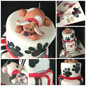 Puppy Cake Collage