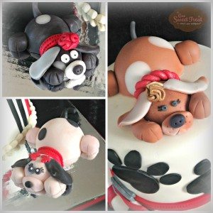 fondant puppies Collage