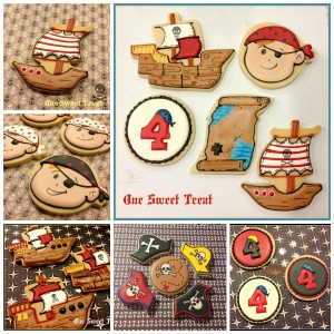 Pirate cookies Collage