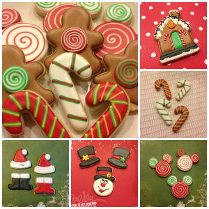 Chrismas cookies Collage