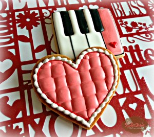quilted heart and piano