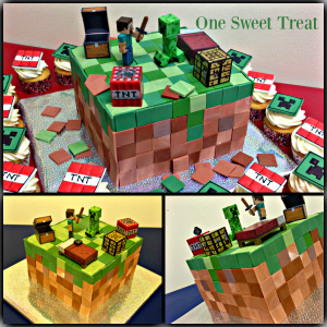 Minecraft Cake Collage