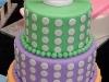 Colorful Polka Dotted Wedding Cake