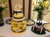 Yellow on Ivory wedding cake