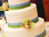 Ivory Wedding Cake with Orchids