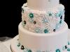 Daisy Pattern Wedding Cake