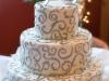 Silver Swirl Wedding Cake